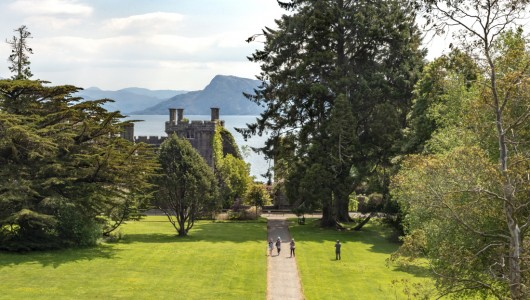 View of Armadale Castle and Sound of Sleat