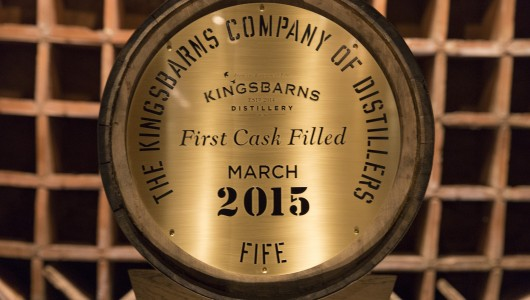 Kingsbarns Distillery - first cask on display